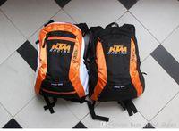 funda mochila ciclismo al por mayor-Moto Racing KTM bicicleta capacidad para tamaños grandes mochila cubierta de la bolsa a prueba de lluvia Estructura Riding Oxford material de varias capas interna
