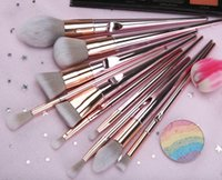 Wholesale eyeshadow without for sale - Group buy New wet and wild makeup brush powder stick radiation package thumb makeup brush set beauty tools eyeshadow brush without bag