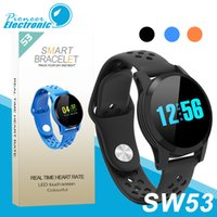 Wholesale cellphone tracker online - SW53 Smart bracelet Fitness Tracker Watch Heart Rate Wristband Smartwatch For Apple Android Cellphones PK fitbit mi band with Box