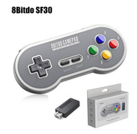 usb snes controller für pc großhandel-8bitdo sf30 wireless game controller mit 2,4g empfänger joysticks spielkonsole usb-c wireless gamepad für snes / sfc classic edition pc