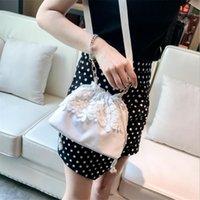 ingrosso sacchetto di crossbody del merletto nero-Borse a tracolla piccola borsa a tracolla per le donne di tela moda alla moda Borse a tracolla piccole borse a tracolla borse a tracolla nero bianco