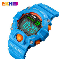 reloj de pulsera chicas al por mayor-SKMEI NEW Kids Watches Digital Wristwatch 50M Waterproof Plastic Case Alarm Boys Girls Children Watch 1484 reloj