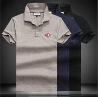 58ecc8504 19ss New Hot style famous Brand Men short sleeves Fashion polo shirts  Casual Designer Men famous brand T-shirt GG luxury polo shirt#88