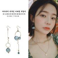 handgewebte perlen großhandel-Koreanische Hand gewebte Ohrringe Retro süße Ohrringe Temperament mit Diamant Perle elegante Ohrringe Super Fairy ZH006