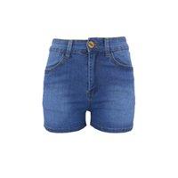 pantalones cortos junior de mujer al por mayor-Moda mujer juniors bodycon denim jeans elásticos delgados pantalones cortos de fitness estilo simple pantalones cortos de verano vaqueros # y30