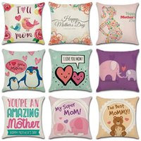 Wholesale linen letter cushions for sale - Group buy 45 CM Mothers Day Styles Pillow Case Linen Letter Square Car Cushion Cover Home Furnishing Textiles khE1