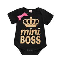 chalecos de cebra bebé al por mayor-Ropa para niños Recién nacido Bobo algodón Bebé Niña Carta Mono Romper Hermana Ropa a juego tops Camiseta Camiseta de verano