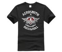 rulo sallamak toptan satış-Rock Grubu Aerosmith Kaya Rulo Logo Baskı Mens Uzun T-Shirt camiseta Hip Hop Popüler Gömlek noel Hediyesi Marka Tops