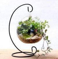 Wholesale christmas balls candle holder resale online - Display Stand Iron Hanging Rack Iron Candle Holder Wedding Decor Glass Ball Hanging Bracket Stand Vintage Lantern Holder Home Decor CLS162