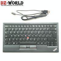 ingrosso piccoli topi-Nuovo originale per Lenovo Thinkpad KU-1255 Tastiera francese canadese USB con piccolo computer portatile rosso mouse trackpoint 03X8726