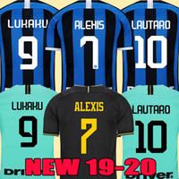 Wholesale top jersey men resale online - LUKAKU LAUTARO SKRINIAR Inter Milan soccer jerseys ALEXIS GODIN BARELLA jersey football top kit shirts Men Kids sets uniform