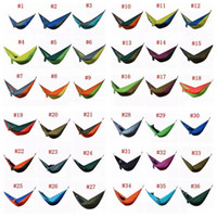 Wholesale beds cot resale online - 36 Colors cm Nylon Single Person Hammock Parachute Fabric Hammock Travel Hiking Backpacking Camping Hammock Swing Bed AAA501