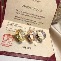 asiatische schmuck reines gold großhandel-S925 reines Silber Hochwertiger Pariser Design-Bandring mit allen Diamanten-Liebhaber-Ringgrößen für Damen- und Herrenschmuckgeschenk mit Logo PS7611