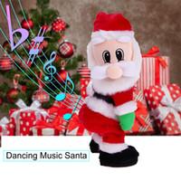 juguetes bailando santa al por mayor-Juguetes para bebés de Navidad para niños eléctrico canto de Papá Noel regalos de la muñeca del juguete de Santa Claus Año Nuevo Juguetes para niños Decoración de Navidad Regalos del baile