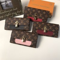 Wholesale patterns for bedding resale online - Trendy Lock Ornament Women Wallets Fashion Printed Pattern Female Card Purses Christmas Day Gifts for Lady Long Wallets