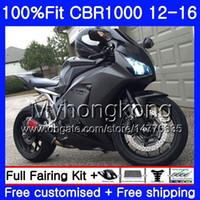 Wholesale purple fairings for honda cbr resale online - Injection For HONDA CBR RR CBR1000RR HM CBR RR CBR1000 RR Matte black full Fairings