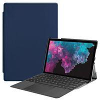 microsoft tablet pro оптовых-Три складной PU кожаный чехол (поддержка положить клавиатуру) для Microsoft Surface Pro 4 Pro 5 Pro 6 12,3-дюймовый универсальный планшет + ручка