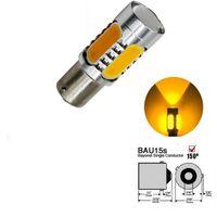 Wholesale cob led amber resale online - 2Pcs Universal py py21w bau15s COB led bulbs Stop Bulb Turn signal Amber Yellow Fog Driving Auto Brake Backup Light Lamps