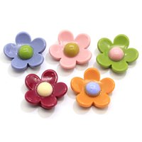 Assorted Colours x 10 Large Resin Rose Cabochons 23mm
