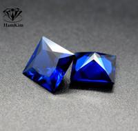 ingrosso blu guarisce-Dimensioni 2-5mm 20pcs quadrato blu pietra di cristallo Chakra Pyramid Stone Set Crystal Healing Chakra Set o monili che fanno DIY A40