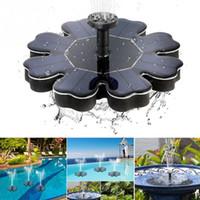 fuente de agua del jardín con energía solar al por mayor-180L / H 8V / 1.4W Bomba de agua sin escobillas accionada por el panel solar Patio Jardín Decoración Piscina Estanque Redondo Pétalo Fuente flotante Bomba de agua