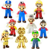 novas figuras de mario bros venda por atacado-Alta Qualidade New 8 estilo Super Mario Bros Odyssey Action Figure Toy Presentes para crianças 12 centímetros