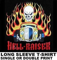 Wholesale army color car for sale - Group buy HELL RAISER OLD SCHOOL MUSCLE HOT RAT ROD OUTLAW DRAG CAR SKULL FLAME T