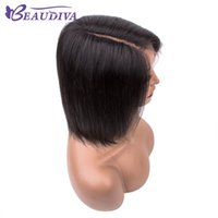 Wholesale wigs for women colors resale online - Natral Color Straight Lace front human hair Wigs Remy Brazilian Virgin Hair Short Human Hair Wigs For Women Beau Diva