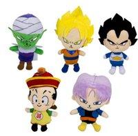 majin buu oyuncakları toptan satış-Dragon Ball peluş oyuncak Goku Kakarotto Majin Buu Piccolo Vegeta 18 CM Peluş Bebek Pendents Doldurulmuş Oyuncaklar KKA6626