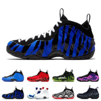 Wholesale air penny shoes for sale - Group buy 2020 Air Foamposite Pro Penny Hardaway basketball shoes mens ports sneakers PURPLE CAMO HYPER COBALT SNAKESKIN USA Paranorman