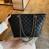 gesteppte designerhandtaschen großhandel-Mode Große Umhängetasche Frauen Reisetaschen Leder Pu Gesteppte Tasche Weibliche Luxus Handtaschen Frauen Taschen Designer Sac Ein Haupt Femme