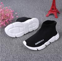 ingrosso coreano ragazze sportive-Primavera 2020 New Kids'Shoes Edizione coreana per bambini Calze di lana per bambini Scarpe per bambini e ragazzi Scarpe sportive per lo sport elastico