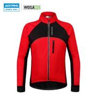 jersey de vento venda por atacado-Wosawe Jaquetas de Ciclismo Térmico Inverno Warm Up Bicicleta Roupas À Prova de Vento À Prova D 'Água Mtb Mountain Road Bicicleta Jersey Wind Coat SH190702