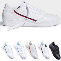 ingrosso scarpe ovest-2020 pattini casuali PowerPhase Calabasas 80 continentali Rascal pelle Kanye West Gray OG nucleo nero Triple modo delle donne White Men Shoe 36-44