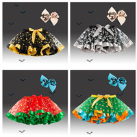 Wholesale baby dresses sequins for sale - Group buy Girl Tutu skirt Halloween skirt with Bow sequins hair clips Set color Baby Tutus Dress kids dance Tutu skirt and head clip