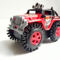 special vehicle 도매-어린이 장난감 오프로드 스턴트 덤프 트럭 전기 자동차 차량 모델 3 색 특수 고무 타이어 V114