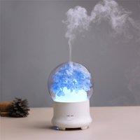 ultraschall-duftspritze großhandel-Stummes Ultraschall-Luftreinigungs-ätherisches Öl Aromatherapy-Gerät der Luftbefeuchtungsanlage des Luftbefeuchters, das buntes Nachtlicht-Sprüher hydratisiert