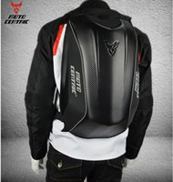 rucksäcke für motorräder großhandel-Hochwertiger Motorrad Kohlefaser Ritter Motorrad Rucksackbeutel Hartschale Rucksack