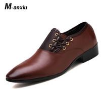 низкая торговая обувь оптовых-M-anxiu Low-топ бизнес случайной мужской обувь мужской моды заостренная опера обувь популярная белого воротник внешняя торговля 46 47 ярдов