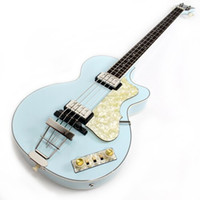 keman beyaz toptan satış-YENİ 125 Yıldönümü 1950 Hofner Çağdaş HCT 500/2 Keman Kulübü Bas Açık Yeşil Elektro Gitar 30