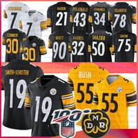 Wholesale steeler jerseys for sale - Group buy Juju Smith Schuster Steeler Jersey James Conner Devin Bush Ben Roethlisberger jerseys Jerome Bettis T J Watt Villanueva Jersey