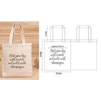 maßgeschneiderte tasche baumwolle großhandel-Kleinen Auftrag 50 teile / los Benutzerdefinierte Logo Design Silkscreen Gedruckt Für Leinwand Baumwolle Tote Bag Customized Logo Tote Bag