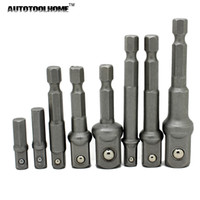8X Right Angle Extension Drill Adapter Attachment Impact Driver Hex Bit Tool Set