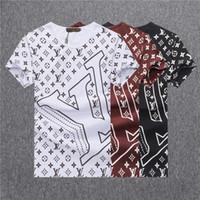 şık tasarım gömlek toptan satış-2019 yılında yeni varış 3D tasarım erkek Yüksek Kaliteli moda pamuk T-shirt erkek T-shirt erkek tasarımcı t shirt BB6637