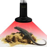 pet ısı lambaları toptan satış-Kızılötesi seramik ısıtma lambası kızılötesi ampul lamba 25W50W75W100W150W200W (sürüngen pet amfibi kümes hayvanları) yardımcı ısı lambası AC220V veya AC110V