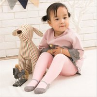 Wholesale high cut shoes for kids resale online - 6pcs Thick Warm Tights for baby girls Toddlers Princess Terry Thicken Winter Tight Dancing Ballet Shoe kids Pantyhose Cotton
