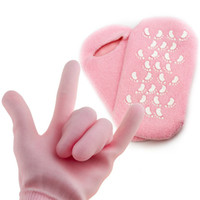 Wholesale cycling socks sale resale online - Lady Reusable SPA Socks Gloves With Silicone Particles Women Hand Foot Care Mask Glove Hot Sale df Ww