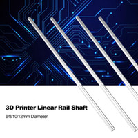 haste linear cnc venda por atacado-Eixo liso da impressora 3D cromado Rod Steel 6/8/10 / 12mm Eixo Linear Rail endurecido CNC Cromado Linear Motion Rod