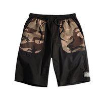erkek kamuflaj pantolonu gevşek toptan satış-Erkek Ins Sıcak Casual Şort Serbest Kargo Kamuflaj Pantolon Yaz Nefes Erkek Giyim Diz Boyu Şort