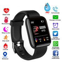 Wholesale step smart fitness watch resale online - 116 Plus Smart watch Bracelets Fitness Tracker Heart Rate Step Counter Activity Monitor Band Wristband PK PLUS for iphone Android